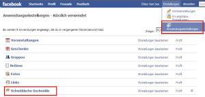 Privatsphäre der Facebook-Anwendungseinstellungen bearbeiten