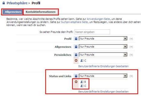 Pofil-Privatsphäre auf Facebook einstellen