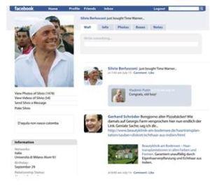 Silvio auf Fakebook