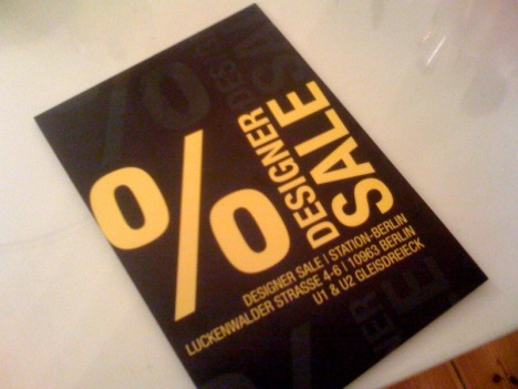 Einladung zum Designer Sale