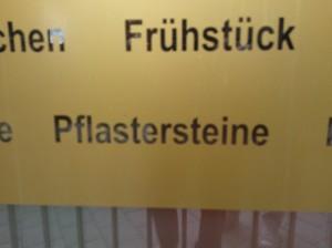 Frühstück - Pflastersteine